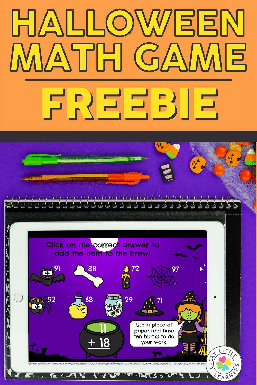 free digital halloween math game