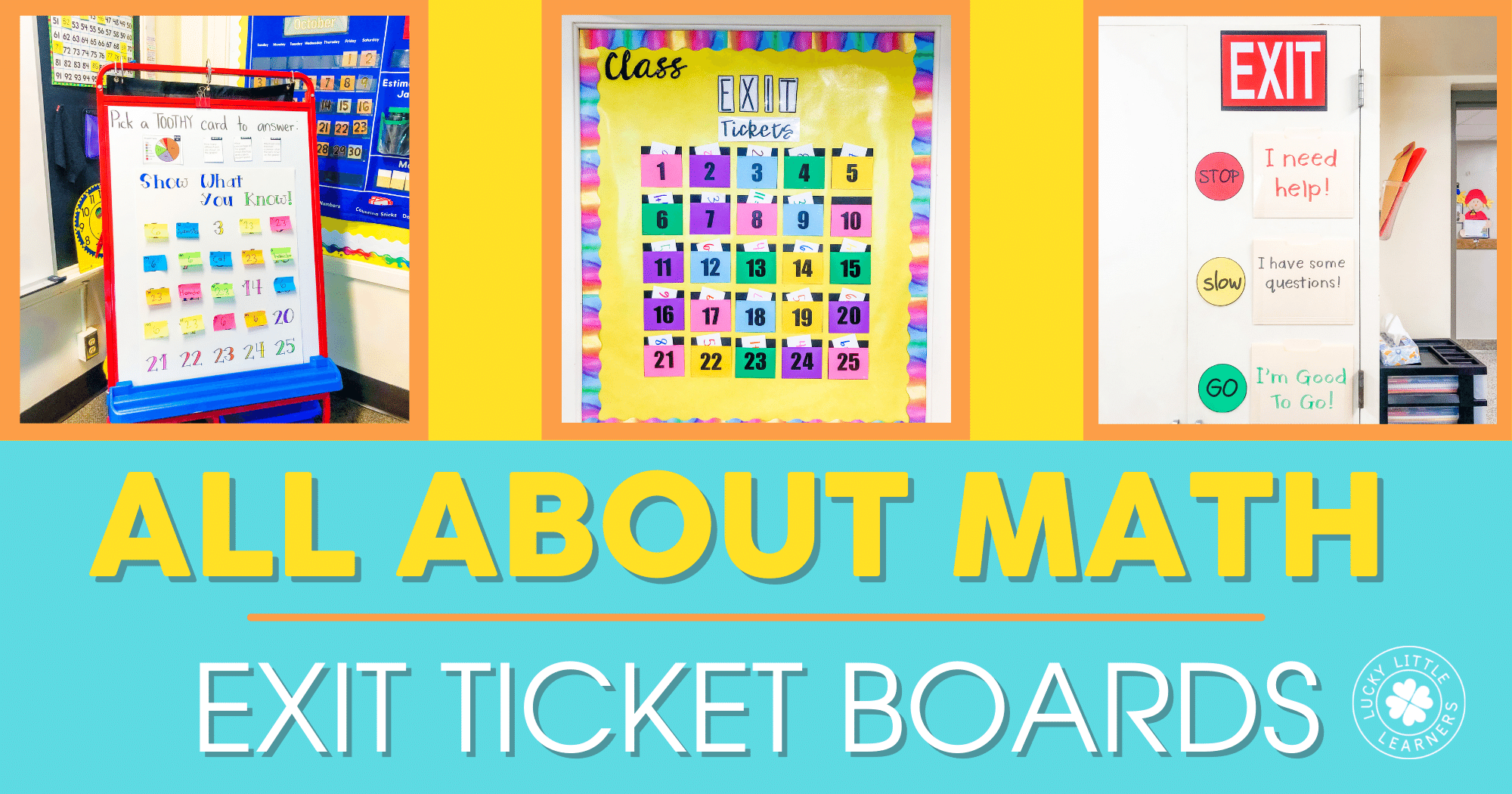 All About Math Exit Ticket Boards