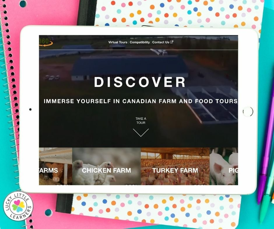 teach children where the food we eat comes from with virtual farm tours