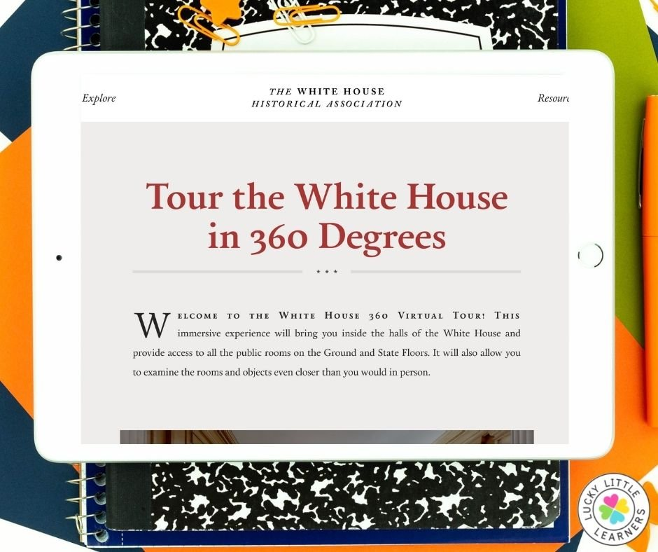 Take a tour of the white house without ever leaving your classroom